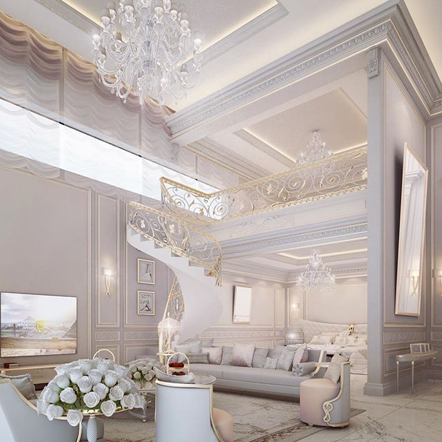 Exquisite #WhiteandGold Luxury Regal Interior Design Inspiration