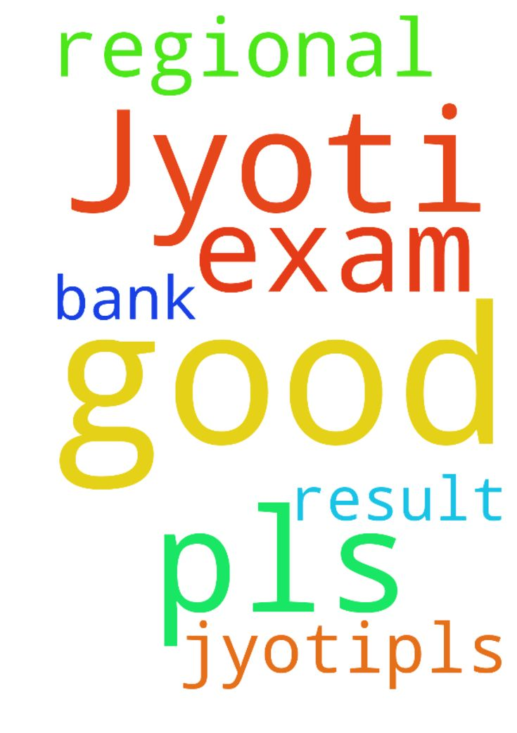 My name is Jyoti.pls pray for my good - My name is Jyoti.pls pray for my good exam result in regional bank.  Posted at: https://prayerrequest.com/t/TbP #pray #prayer #request #prayerrequest