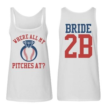 Baseball Bachelorette Party Tank Top for the Bride to Be! #BaseballBachelorette #BacheloretteParty