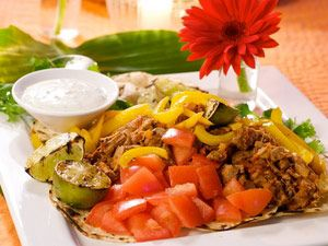 Tacos de Carne with Cilantro Lime Crema Recipe