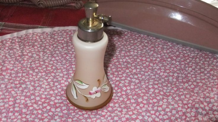 Vintage Hand Painted Perfume Atomizer by ThriftyMidge on Etsy