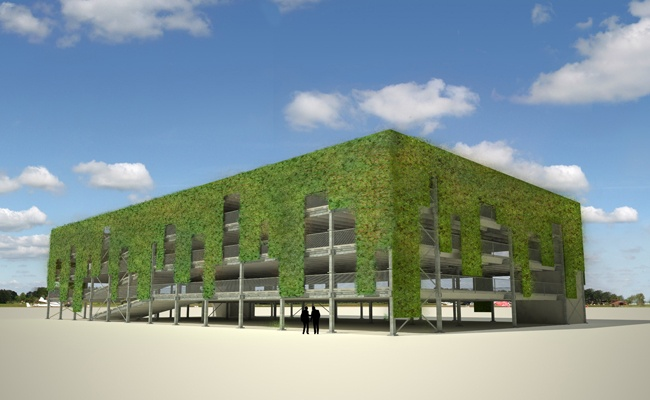 ModuPark PLUS parking system, Ballast Nedam (NL), green facade type 2, www.8aa.nl