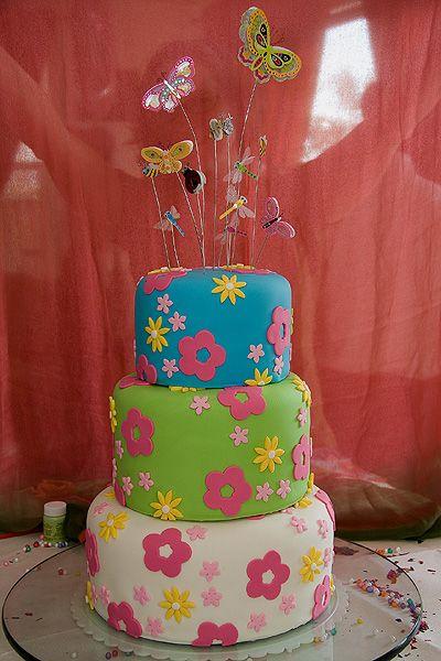 Garden girl Birthday Cake