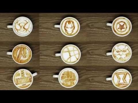 CHOCOLATE AND MILK LATTE ART - TUTORIAL - COFFEE ARTIST - YouTube