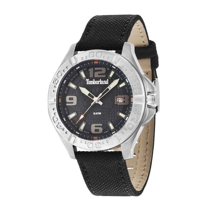 Run your Elegance 365 days a year! Elegance is a mindset WALLACE Silver - Timberland watch Silver dial and black nylon strap - Runit365 your Elegant Men Store  #menswear #menstyle #tie #mensfashion #boots