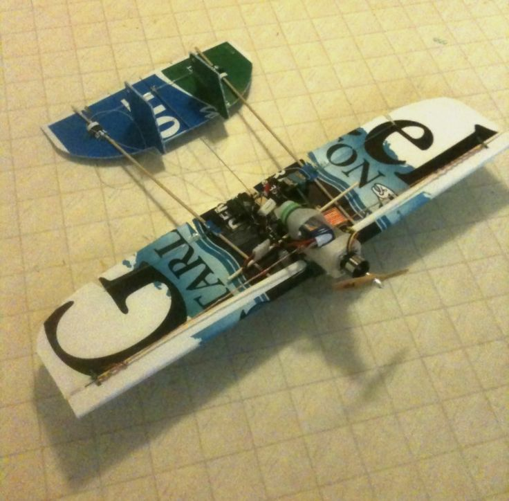 RC airplane made with old political signs!