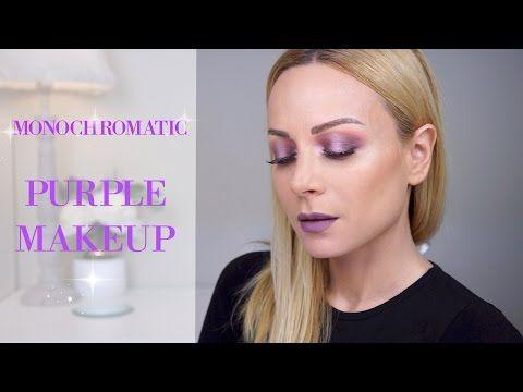 Μωβ μονοχρωματικό μακιγιάζ | Gina - YouTube