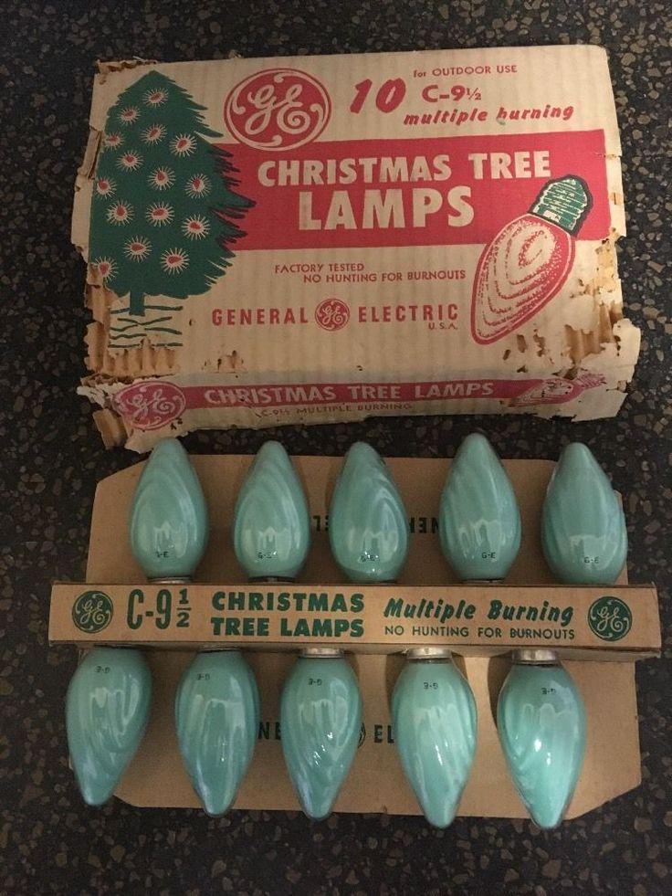 Mejores 63 imgenes de antique christmas lights en pinterest vintage christmas lights ge swirl c 9 c9 10 green ceramic coated bulbs usa aloadofball Images