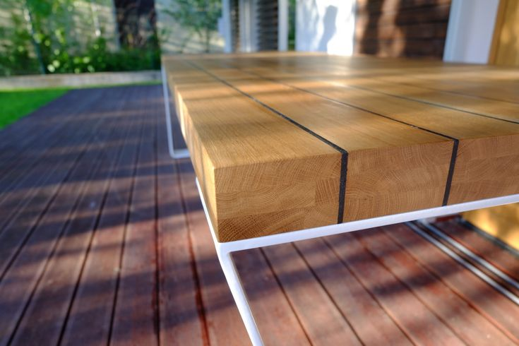 stół NOVA marki @cubeo1601 meble Projekt stołu: grupa Żoliborz;  #table #wood #garden #furniture