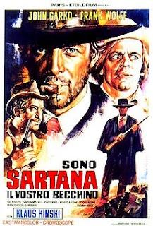 Spaghetti western  Gianni Garko is Sartana the undertaker