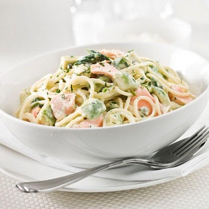 Nutritious Creamy salmon pasta