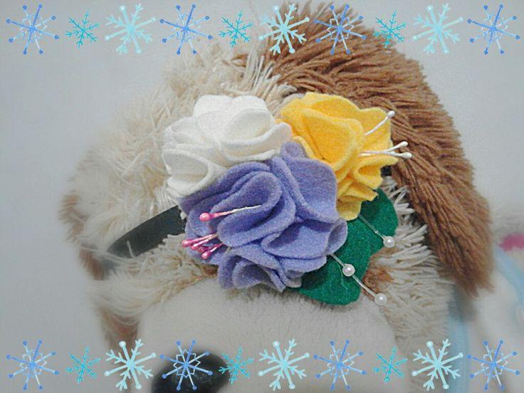 #feltcraft #felt #headband #flower #handmade