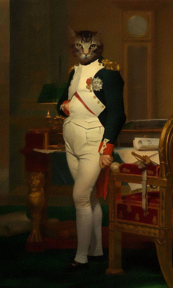 Сustom животное портрет, Королевский костюм домашнее животное портрет, портрет собаки, изготовленный на заказ Vintage Regal Pet портрет, изготовленный на заказ портрет, Смешные