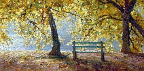Autumn. From the series 'Seasons'. painting by Yuri Obukhov