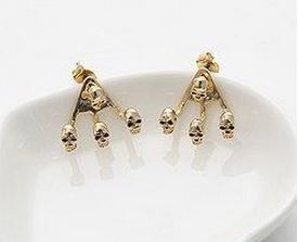 B.A.P Zelo's skull earrings from the 빗소리(Rain Sound) M/V ($7.99 USD)  I have been wanting these since FOREVER. Literally. Just waiting for the exchange rate to go up before buying though T^T  #bap #zelo #choijunhong #earring #gold #skull
