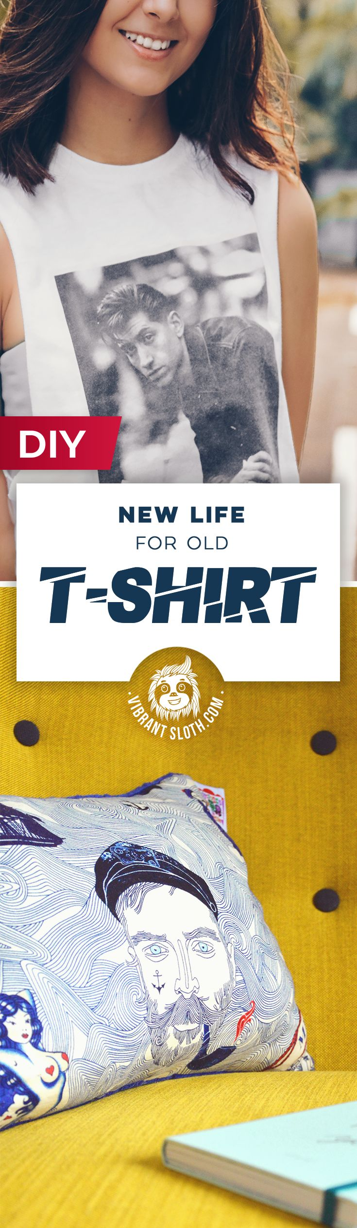 Old T-shirt ideas, Old T-shirt crafts, Old T-shirts DIY, What to do old T-shirts, T-Shirt quilt, T-shirt carpet, Framed T-shirt, Renew old T-shirt