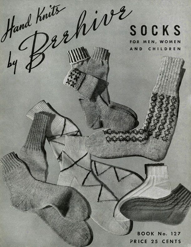 Knitting History Facts : Best vintage knitted sock slippers and shoes images