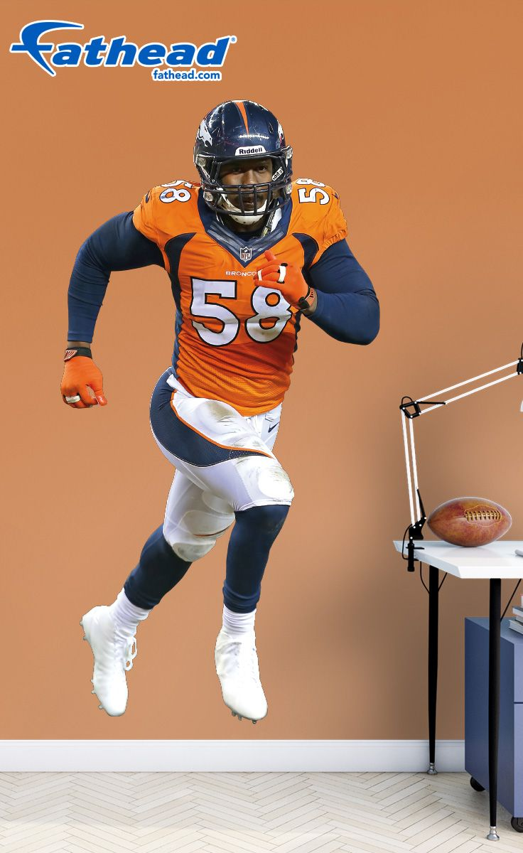 Von miller denver broncos fathead wall decals are life size von miller denver broncos fathead wall decals are life size action images that you stick on any smooth surface you can move them and reuse them amipublicfo Gallery
