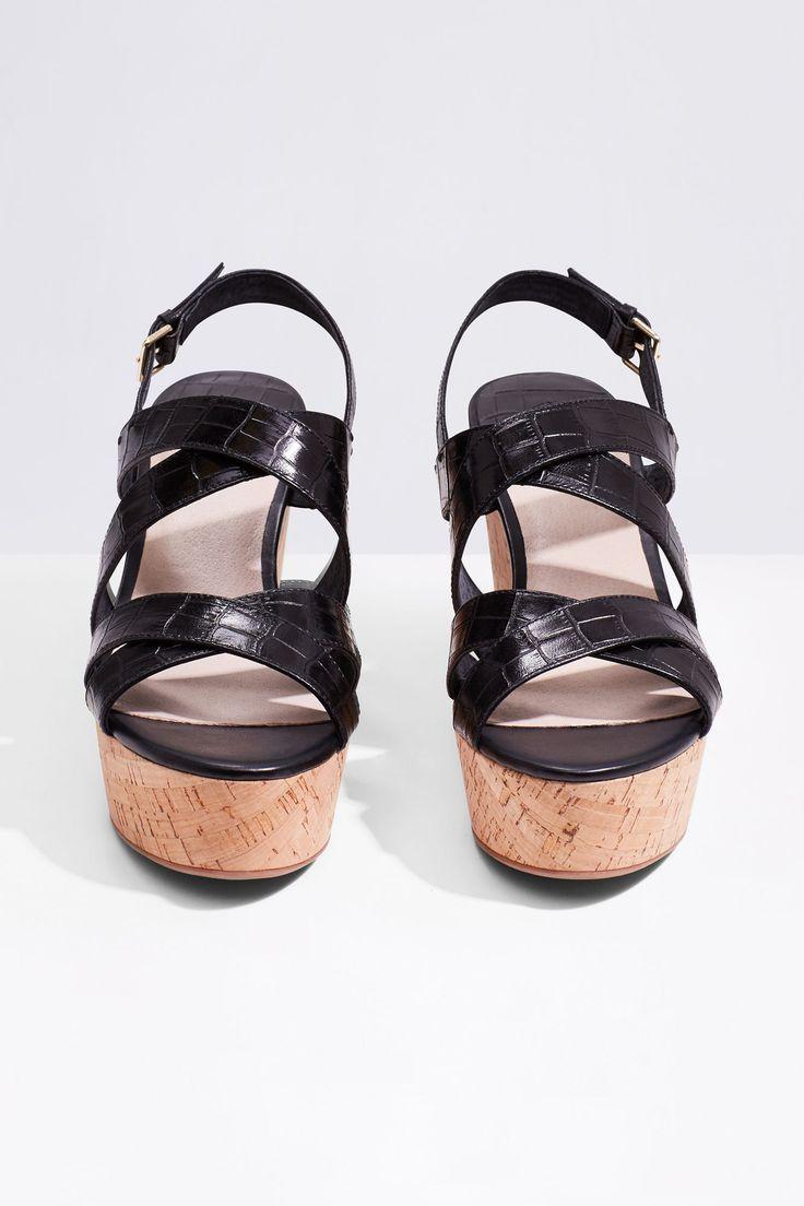 Sandalia plataforma tiras   Zapatos   Cortefiel