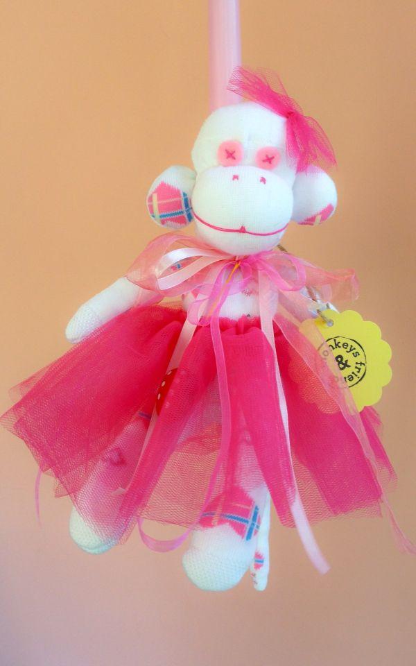 Baby monkey Easter candle