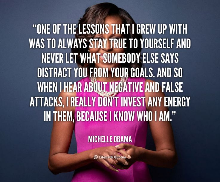 One Of The Lessons That I Grew Up With Was To...