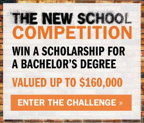 Win a scholarship for a bachelor's degree in art and design, music or the liberal arts from The New School in New York City