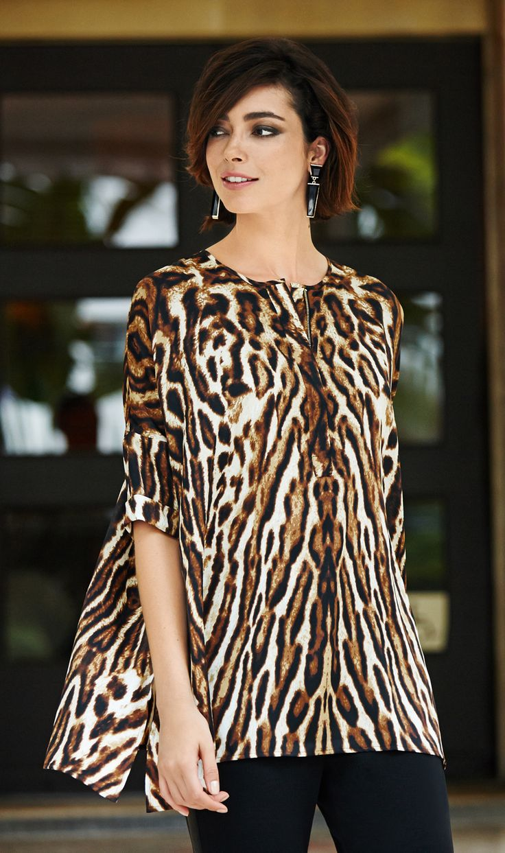 The Print Poncho. Go wild with animal print and a chic hem.