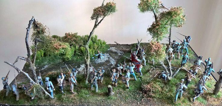 54 mm scale diorama of Johny Reb battle of Antietam 17-9-1862, by ademodelart