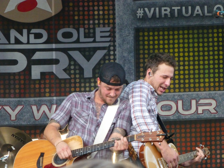 Love and Theft - my photo taken at an early outdoor concert prior to the Brad Paisley concert. Tampa Sept. 2012.