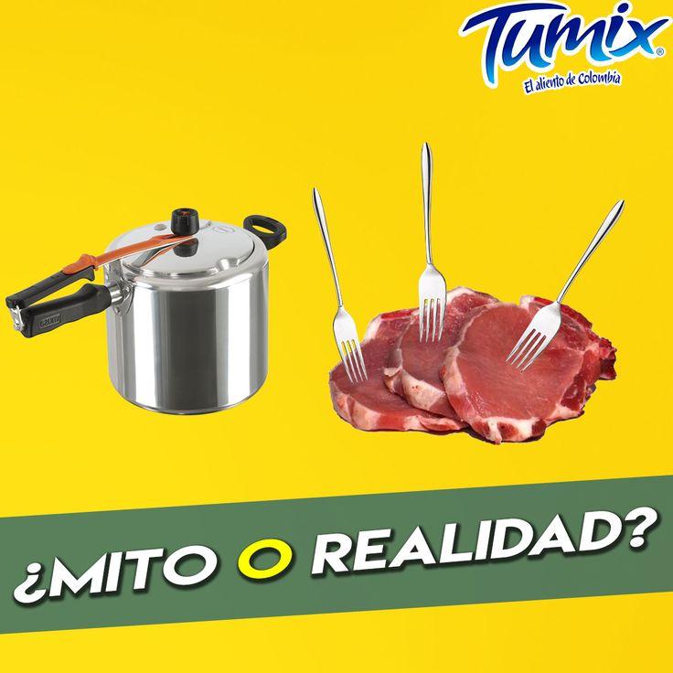 Mito o realidad: ¿Es cierto que poniendo 3 tenedores a la carne en la olla, la carne se ablanda? ¡Comenta utilizando la etiqueta #SerFrescoEsSerColombiano :D!
