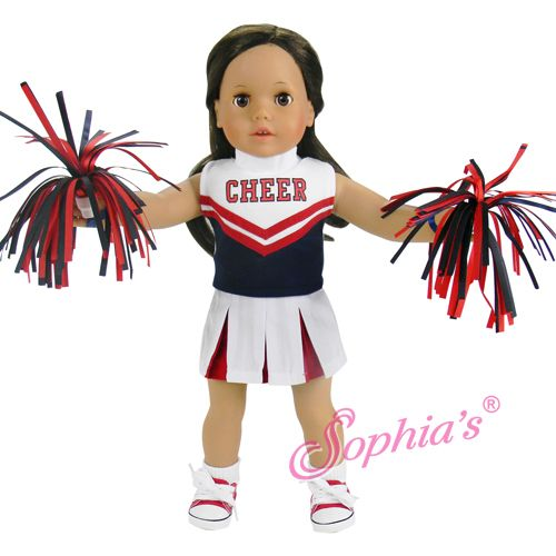 18 inch doll cheerleader outfit fits american girl dolls