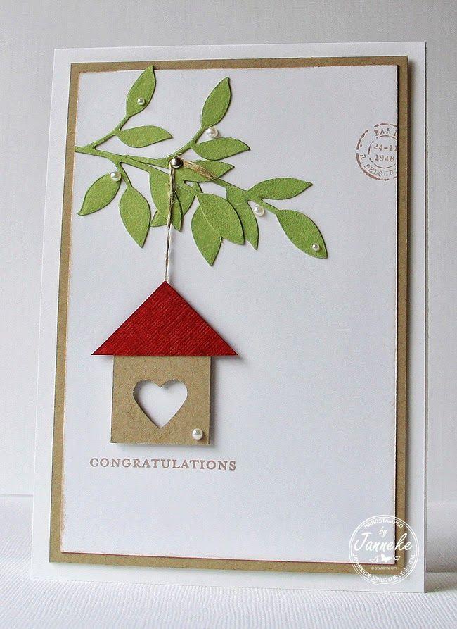 Card Making Ideas At Home Part - 47: Congratulations Card By Janneke De Jong... Cute U0027new Homeu0027 Card!