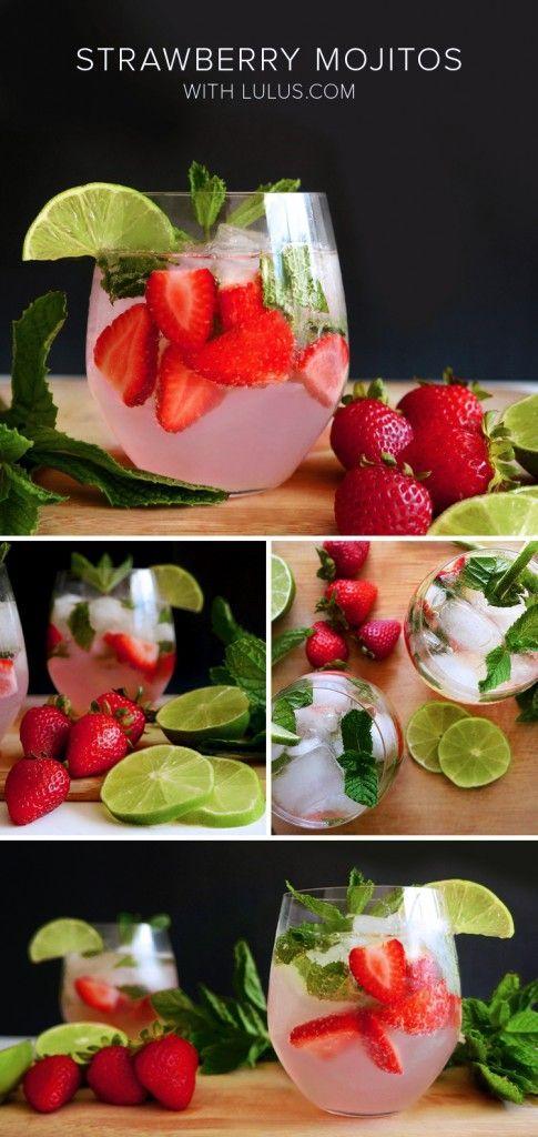 Strawberry Mint Mojitos
