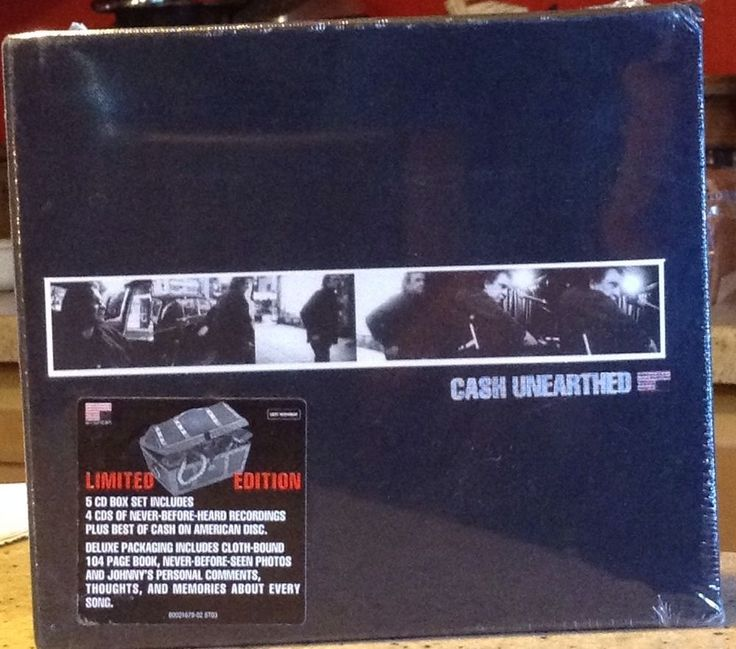 Johnny Cash Unearthed 5 CD Box Set Limited Edition New Original Seal Country  #RocknRoll