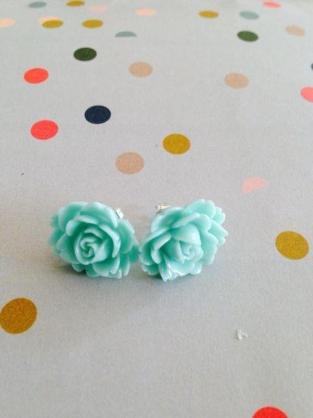 Lola loves resin rose earrings in pretty pastel - Lolalolalola