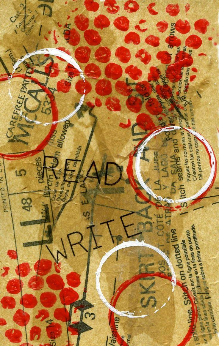 Kay Wallace: art journaling: ART JOURNAL TECHNIQUE (using bubble wrap)