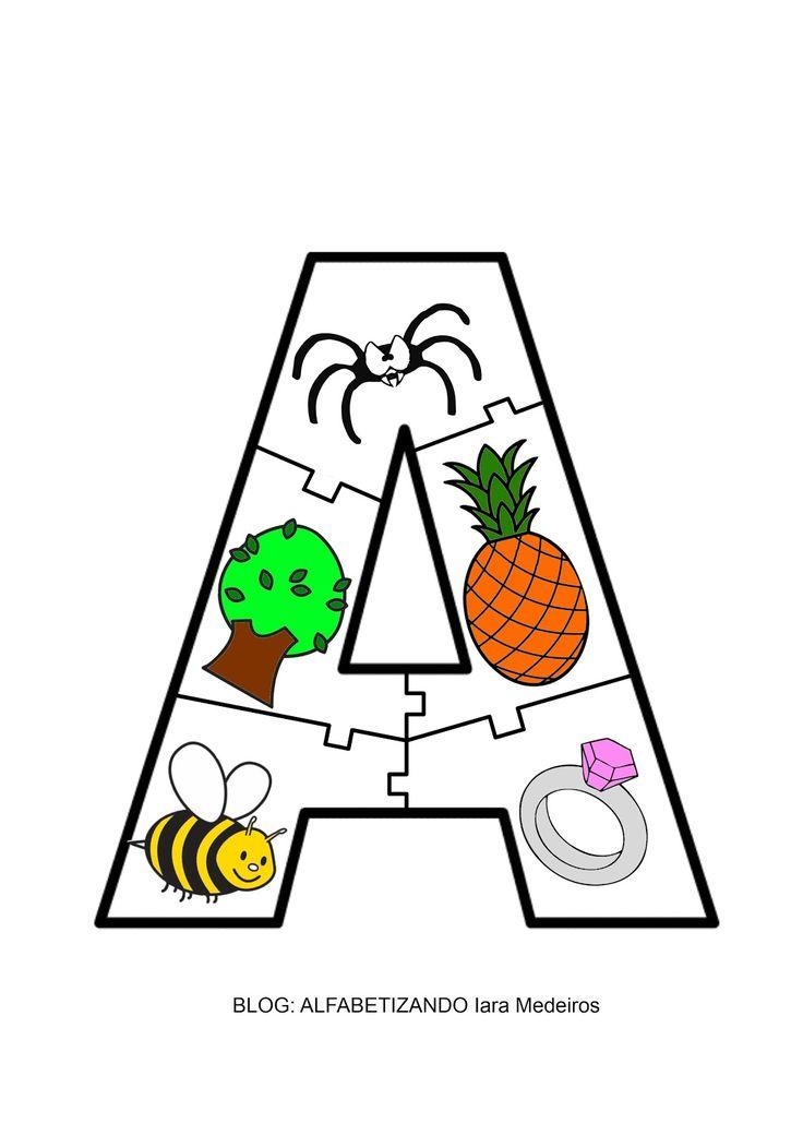 Alfabetizando - Iara Medeiros: Quebra-cabeça das vogais