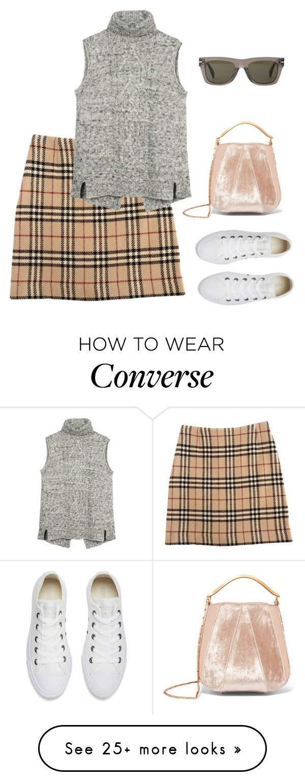 """""""#3"""" by gabriela-costa-carneiro on Polyvore featuring Burberry, Converse, CÉLINE, Eddie Borgo and Fat Face"""