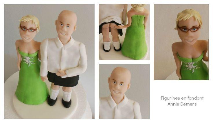 weeding cake topper figurines de mariage personnalisées    https://www.facebook.com/figurinesanniedemers