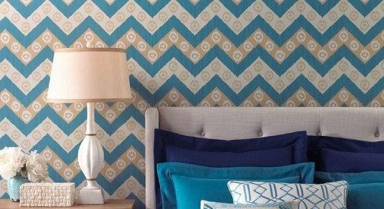 Wallpaper, Diseño de interiores, Diseño textil, Robinson Fabrics, Casa, Textura, Color, Diseño, Cuarto, Azul
