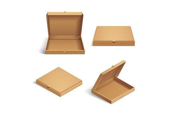 Download 3d Isometric Pizza Cardboard Box Isometric Cardboard Box Cardboard