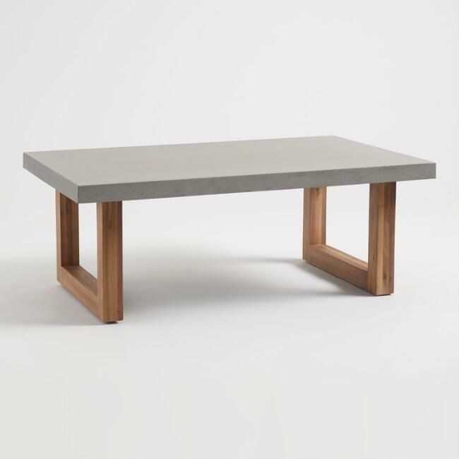 With A Faux Cement Tabletop Our Palmera Coffee Table Offers A