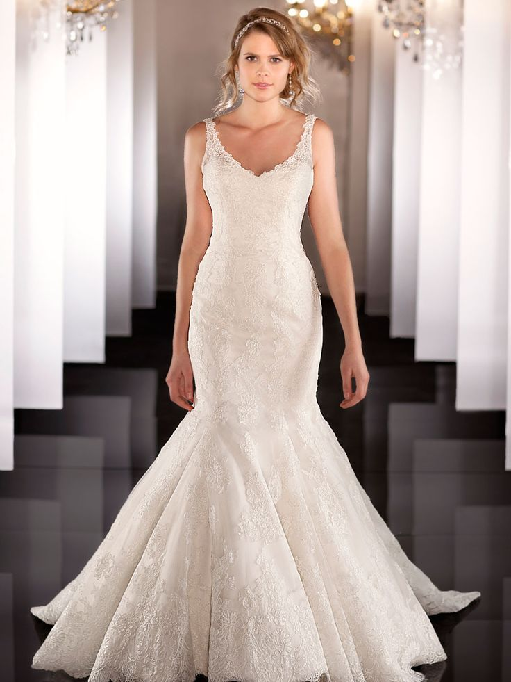 low cost wedding dresses in atlantga%0A Elegent Strap Fit Flare Lace Mermaid Wedding Dress New Wedding Dresses