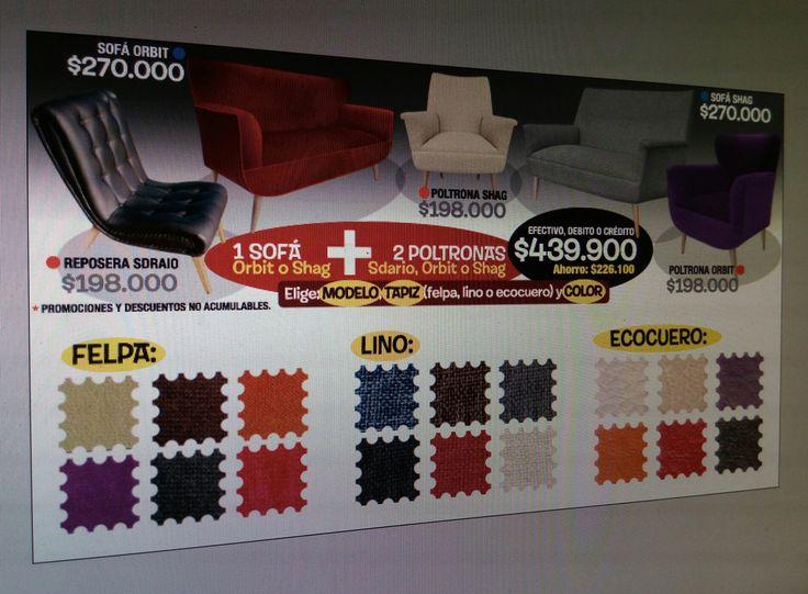 Cambia tus sillones! 1 sofá + 2 sillones increíble oferta #sillonespromo, #sofaoferta, #mueblespromo, #sofaretro