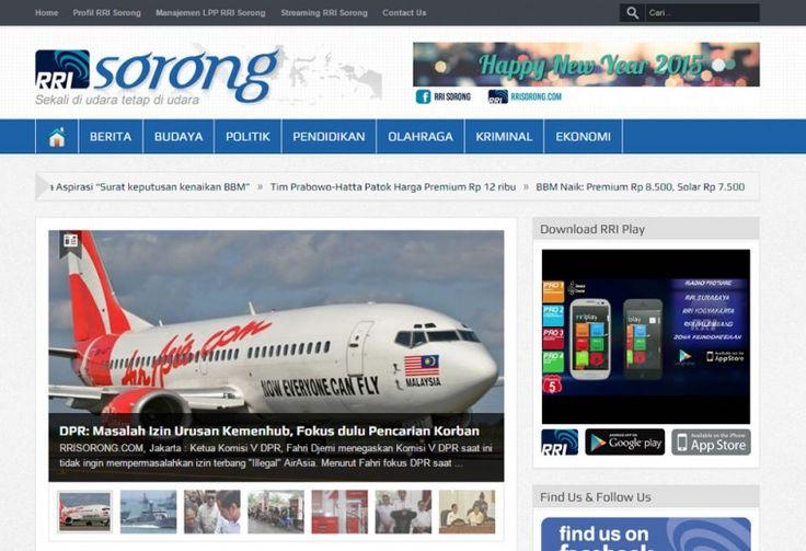 RRISORONG.COM Company Profile & Web Portal Portfolio oleh ATDIV.com - http://www.atdiv.com/project/rri-sorong/