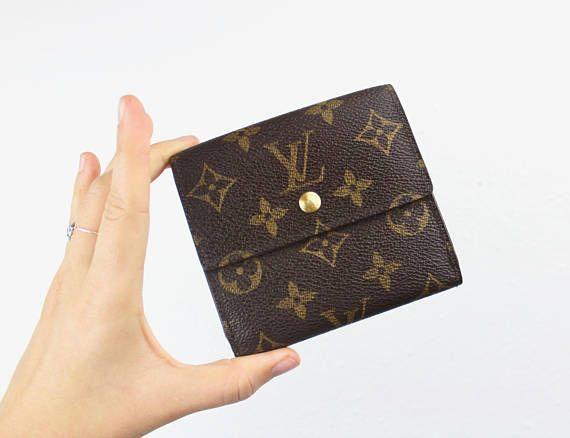 Vintage Louis Vuitton Elise Wallet Small Square Double Snap Vintage Louis Vuitton Louis Vuitton Wallet