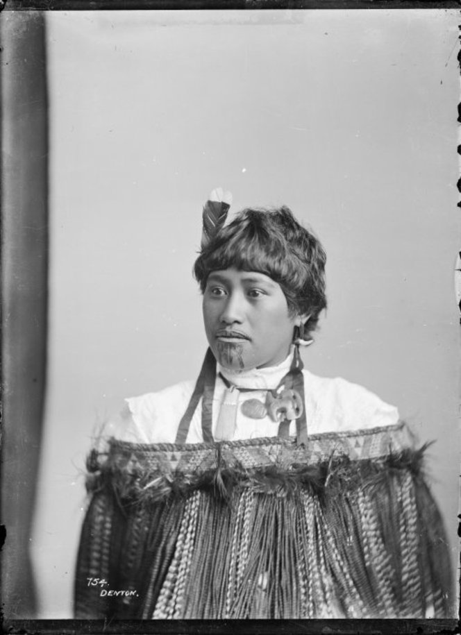 Portrait of an unidentified Maori woman, New Zealand, 1900-10, photograph by Frank J. Denton.