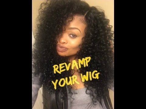 How to Revive/Refresh Your Curly Synthetic Wig | featuring Outre Dominican Curly Wig - YouTube