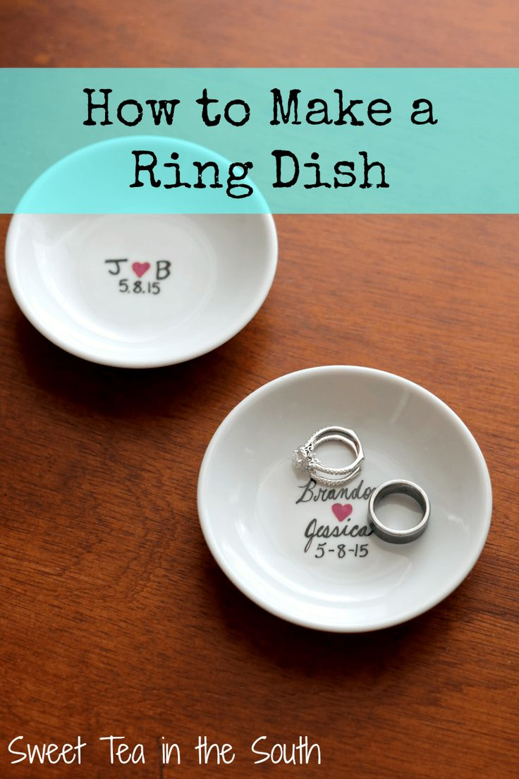 How to Make a Ring Dish - Perfect to place your rings when you are washing the dishes and what not! | Sweet Tea in the South