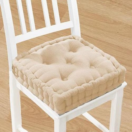 Tufted 15 Wide 4 Thick Foam Cushion Dining Chair Pad Seat Floor SQUARE  PILLOW